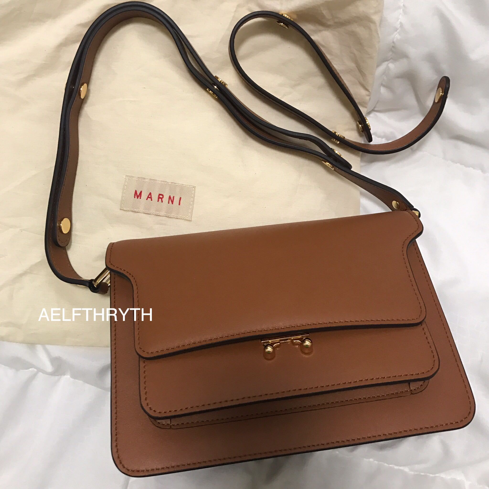 Marni Trunk Inspired Genuine Calf Leather Shoulder Crossbody Bag ... 54f48c3427aa6