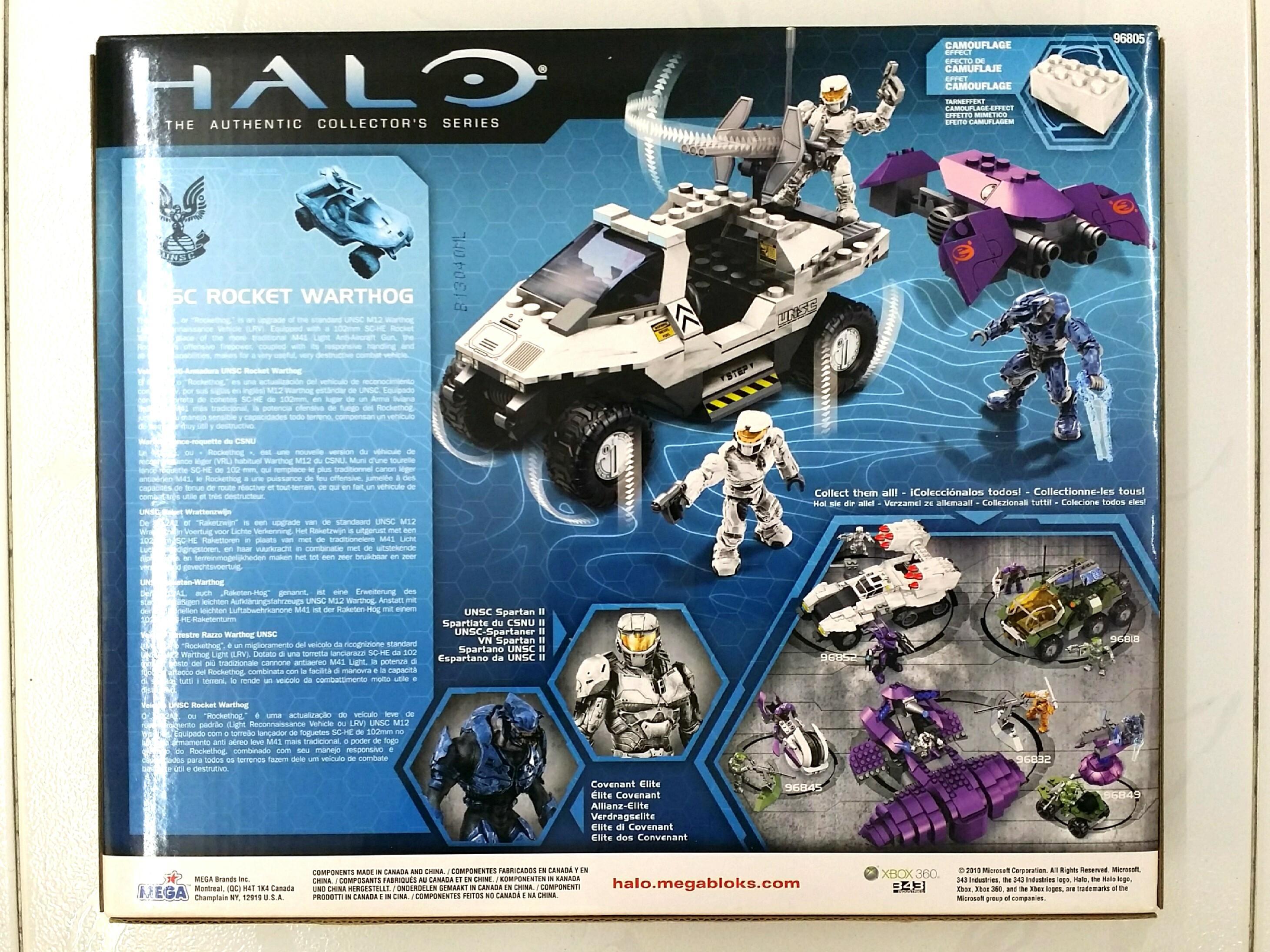 Mega Bloks Halo UNSC Rocket Warthog Set #96805