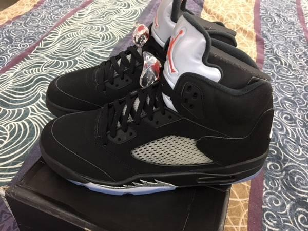 Nike Air Jordan V 5 Retro BLACK METALLIC FIRE RED Size 12