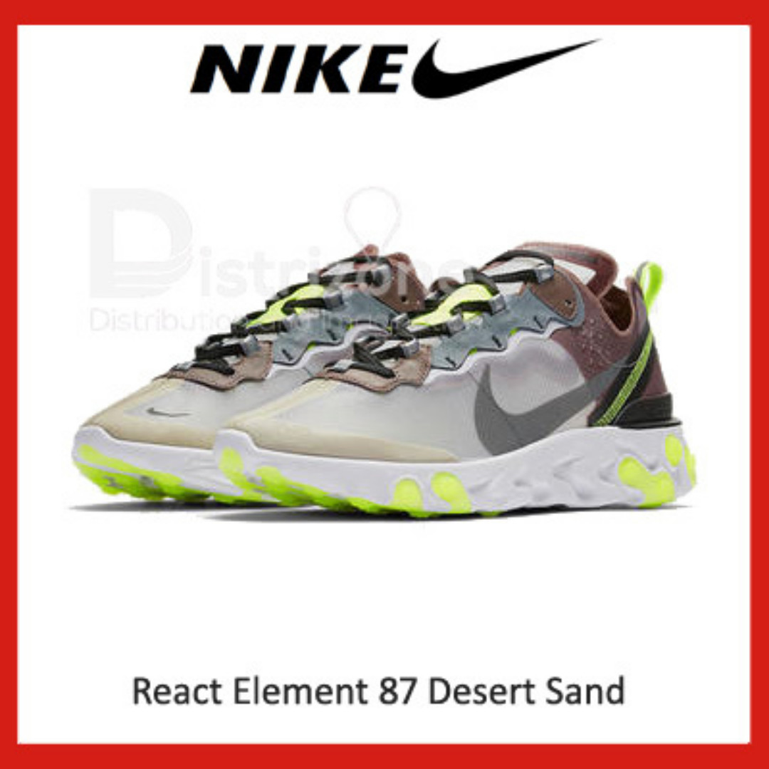 classic style buy innovative design Nike React Element 87 Desert Sand (Code: AQ1090 002)