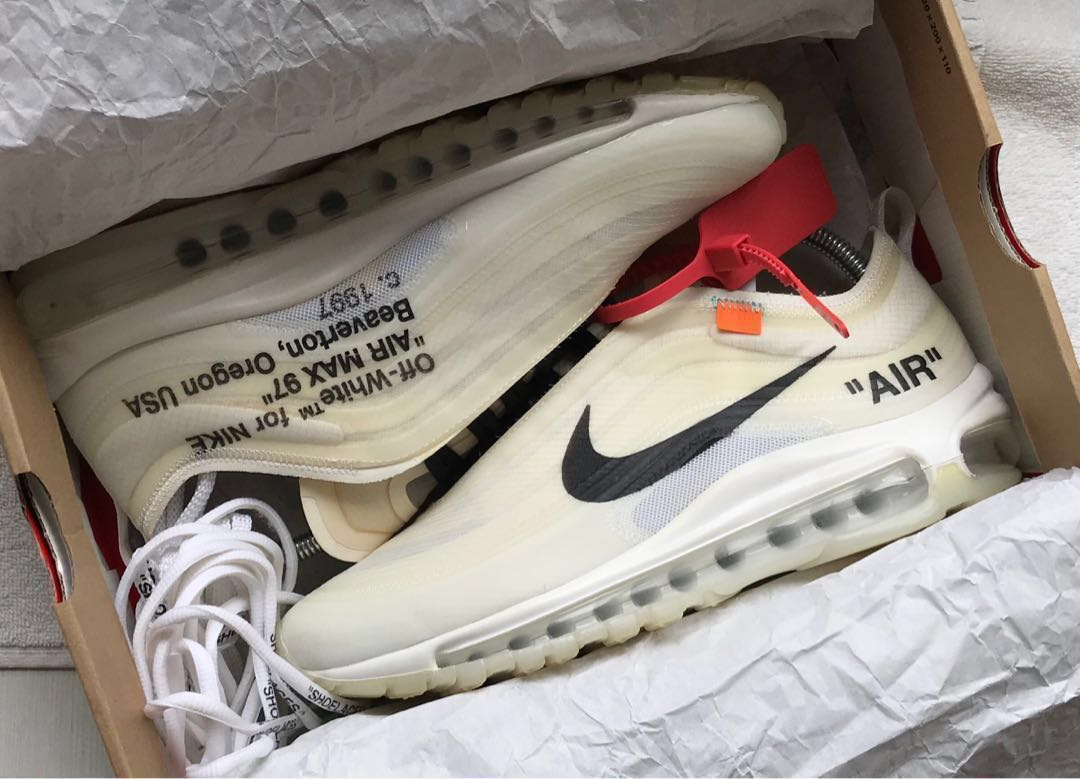 7d611c34a1 Off-White x Nike Air Max 97, Men's Fashion, Footwear, Sneakers on Carousell