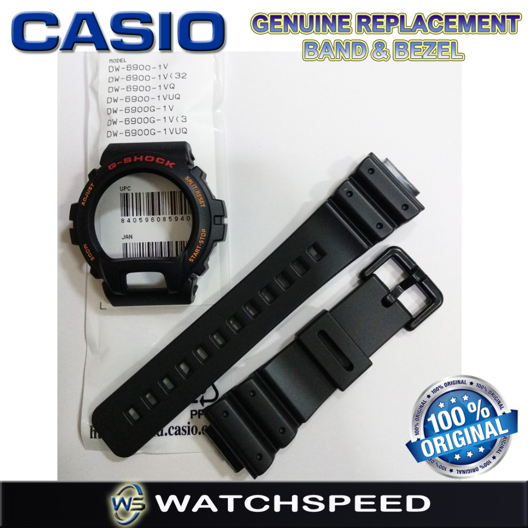 Original Replacement Band And Bezel For Casio G Shock Dw 6900g Gax 100a 7adr Origina 1v Dw6900 69001vq Luxury Watches On Carousell