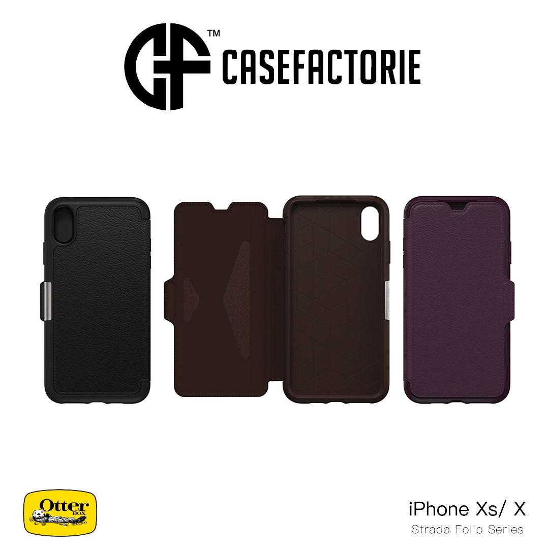best service 64118 ddf30 Otterbox Strada Folio Case for iPhone X/Xs