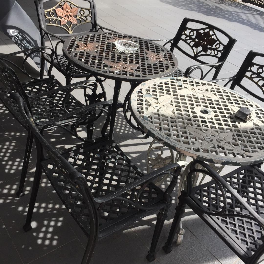 Outdoor Furniture Wrought Iron Tables