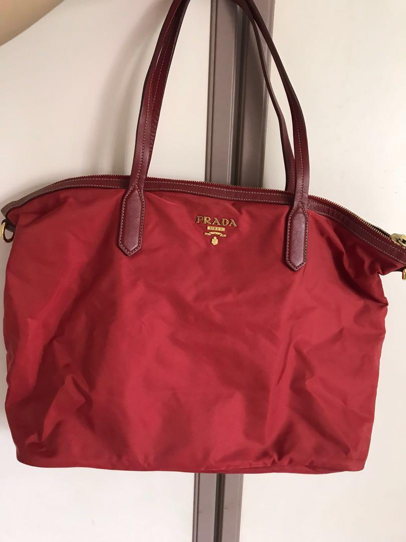 df7969b32d90 denmark prada red saffiano tote b50ff 9681b; promo code for prada red tote  bag luxury bags wallets handbags on carousell bc486 b6ba3