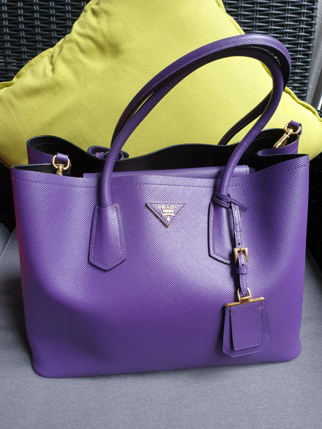1be162f6b77b Prada Saffiano Cuir Double Tote Bag, Luxury, Bags & Wallets ...