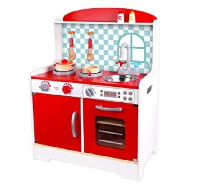 Pre Order Tookytoyus Wooden Kitchen Set Red Kitchen Set Toys