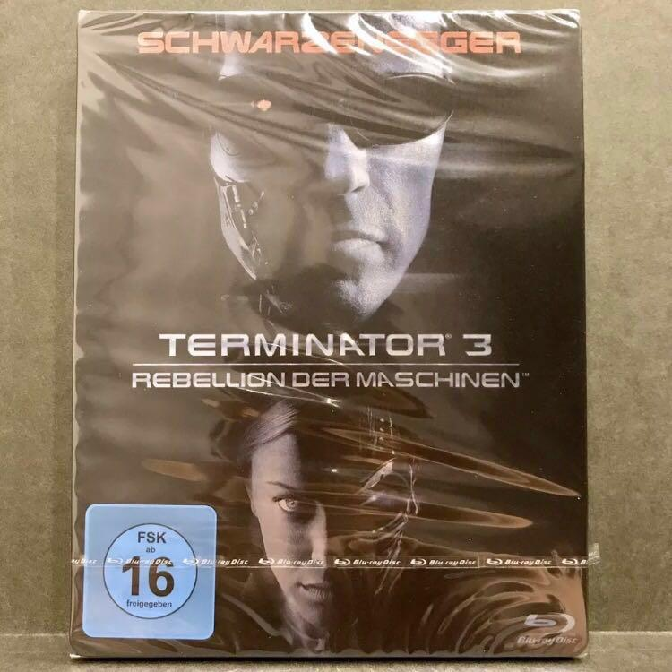 [Promo 20%* Off]  TERMINATOR 3: RISE OF THE MACHINES Blu-ray Steelbook Germany [OOP RARE] Bluray US$25 | S$32  [Get up to $8 off with Promo Code <20%OFFLAH> for first PayLah! Ends 31 Sep 2018]
