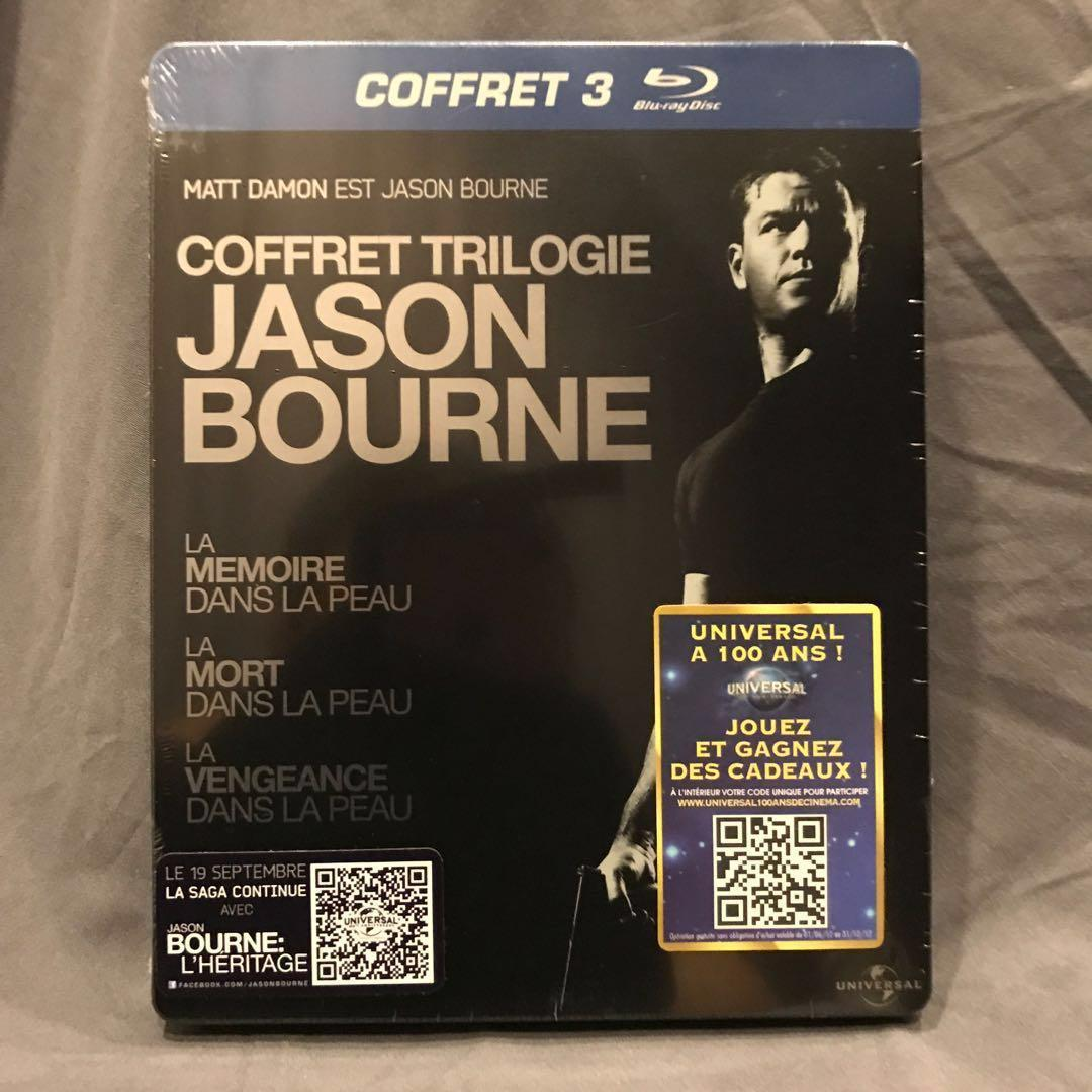 [PROMO 20%* Off]  THE BOURNE TRILOGY Blu-ray Steelbook | THE BOURNE IDENTITY / SUPREMACY/ ULTIMATUM Bluray Steelbook France US$75 | S$95  [Get up to $8 off with Promo Code <20%OFFLAH> for first PayLah! Ends 31 Sep 2018]