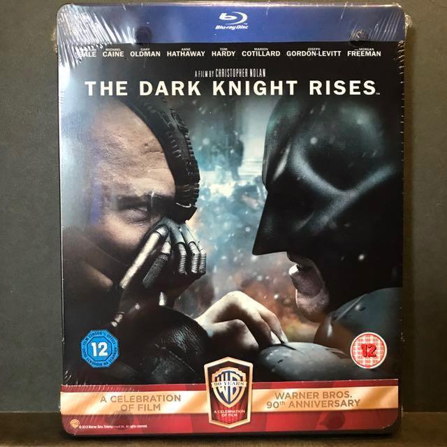 [PROMO 20%* Off]  THE DARK KNIGHT RISES Two-Disc Blu-ray Limited Edition Blu-ray Steelbook | UK-Import OOP US$65 | S$80  [Get up to $8 off with Promo Code <20%OFFLAH> for first PayLah! Ends 31 Sep 2018]