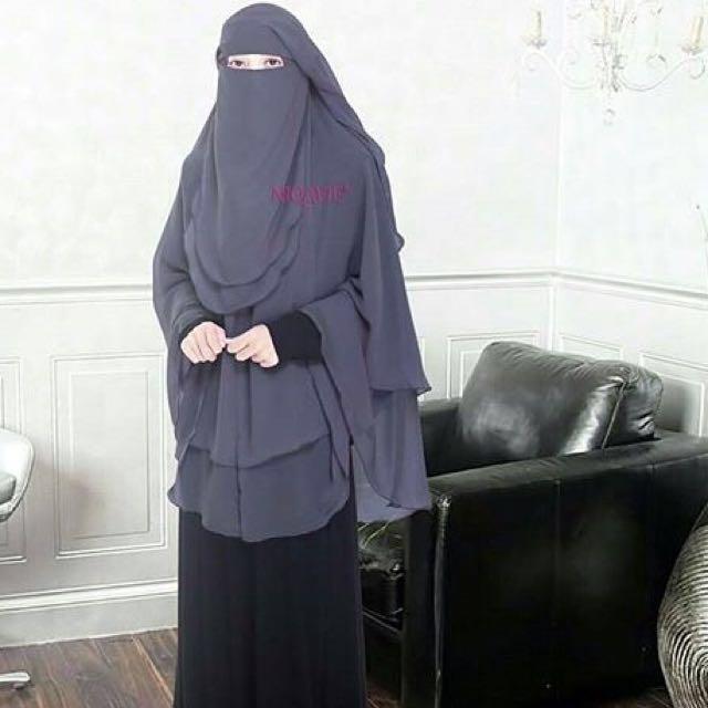 purdah niqab 2 layer muslimah fashion on carousell