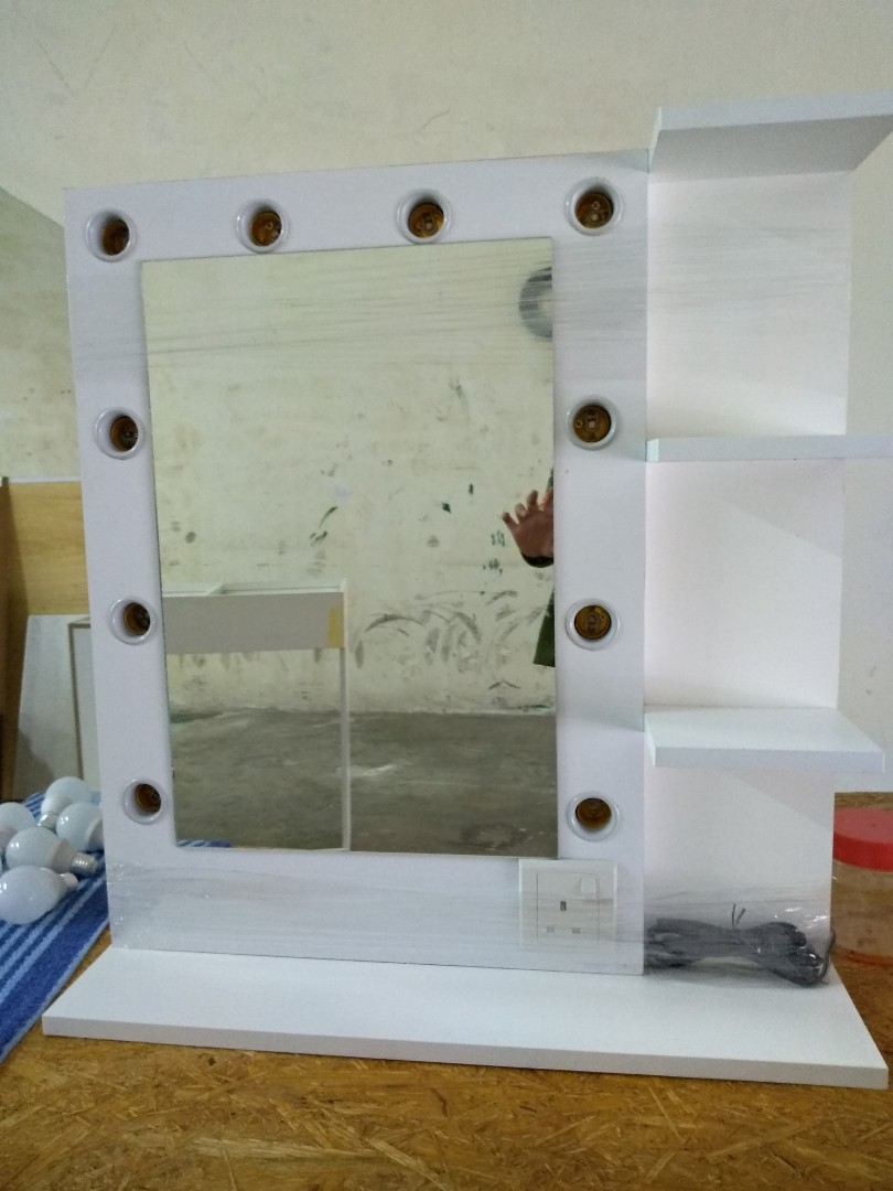 Readystock Vanity Mirror With Shelf Home Furniture Home Decor On Carousell