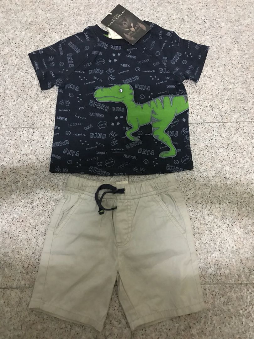 f3866b9db Rorie Whelan Dino T-shirt and Shorts Set, Babies & Kids, Boys' Apparel, 1  to 3 Years on Carousell