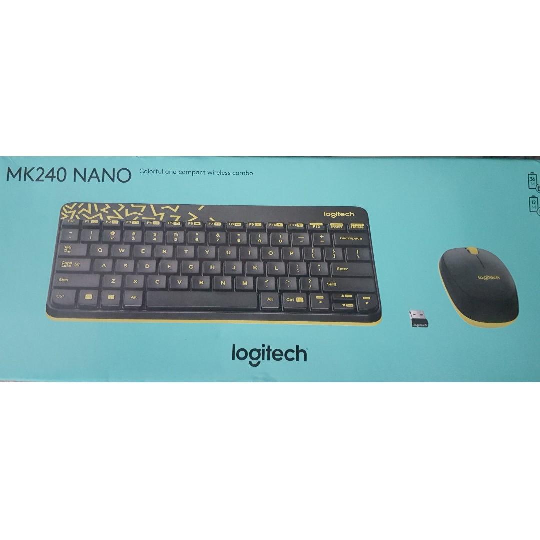 b7093f27ebf Selling Logitech MK240 Nano Wireless Keyboard + Mouse Combo ...