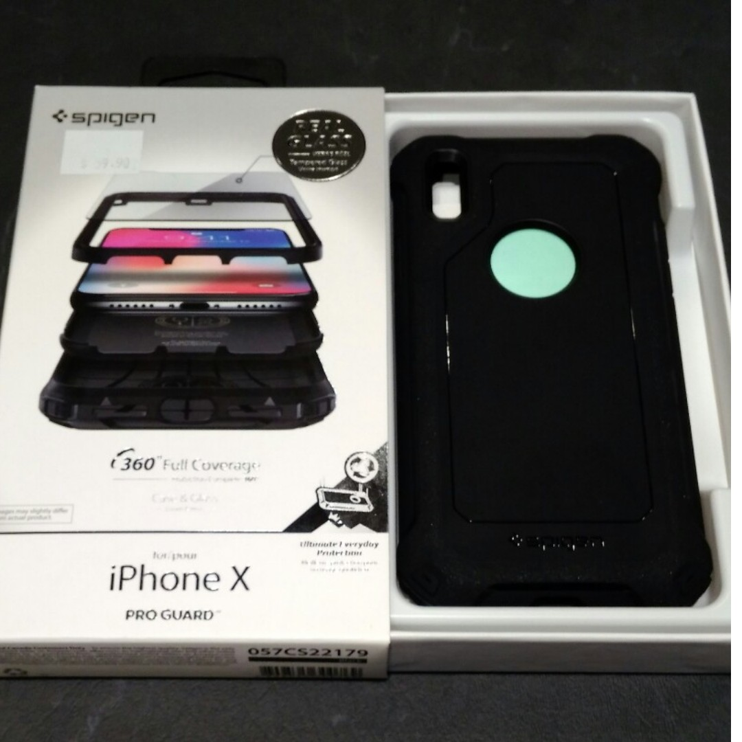 low priced 8b0f1 38282 Spigen Pro Guard 360° For IPhone X, Mobile Phones & Tablets, Mobile ...