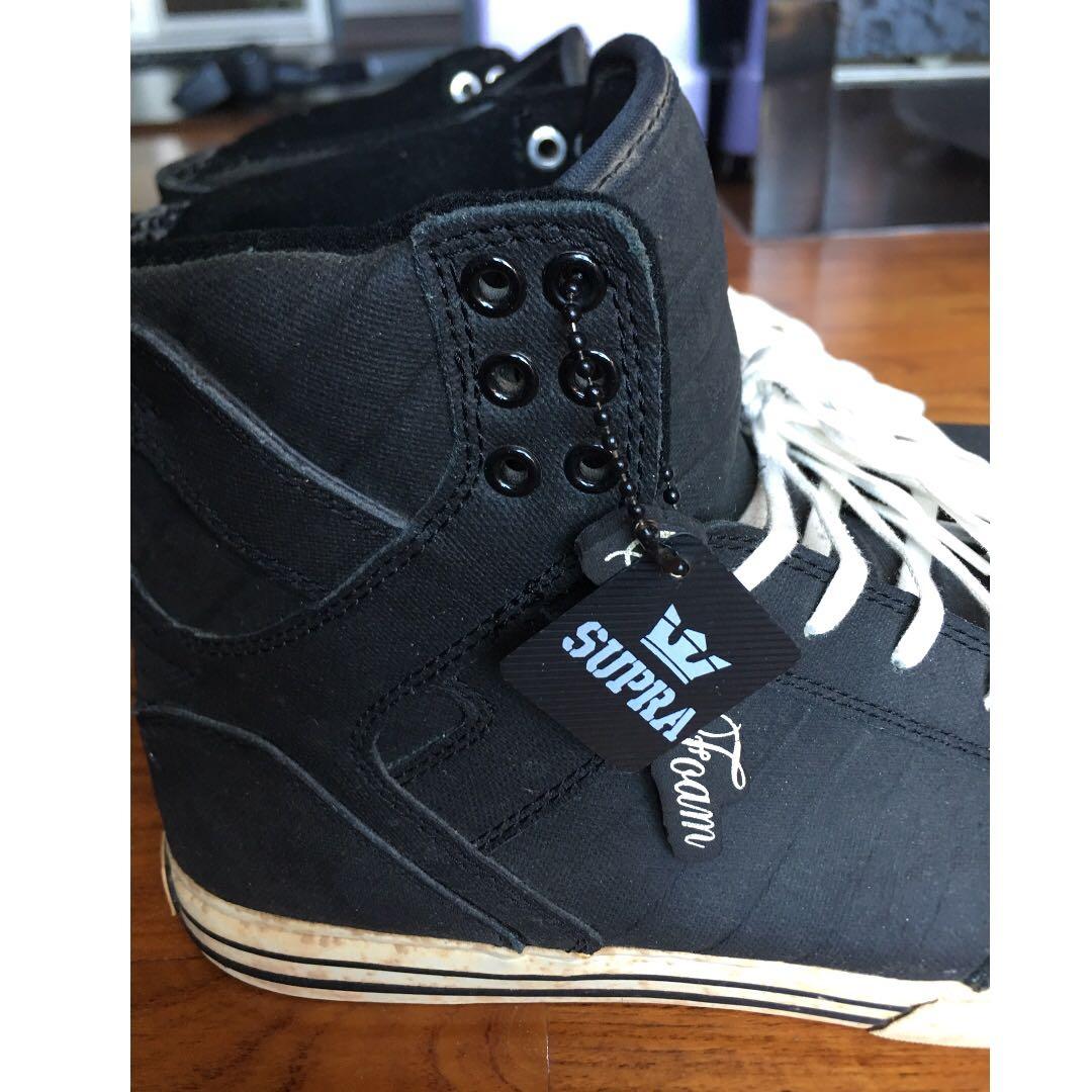 0b683171e86a Supra skytop black express tug canvas skate shoe