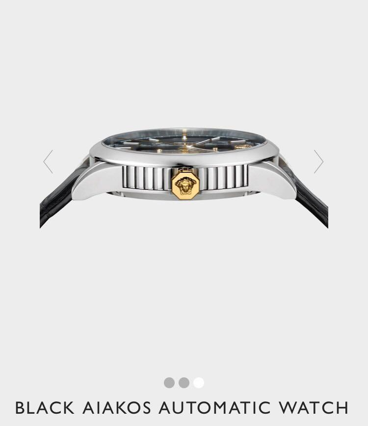 912bd30598 Versace Black Aiakos Automatic Watch, Men's Fashion, Watches on ...