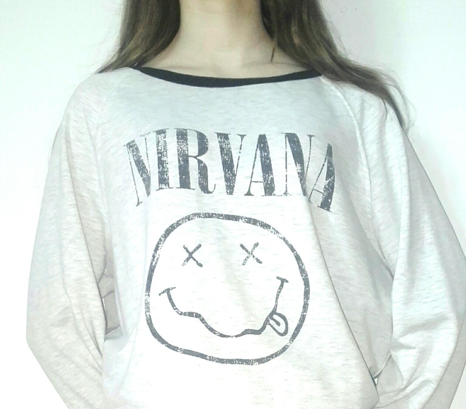 Vintage Style NIRVANA Long Sleeve T-shirt