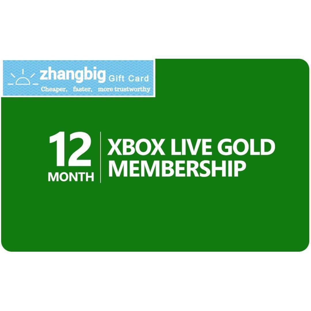 Xbox Live Gold Membership 12 month(Digital Code)