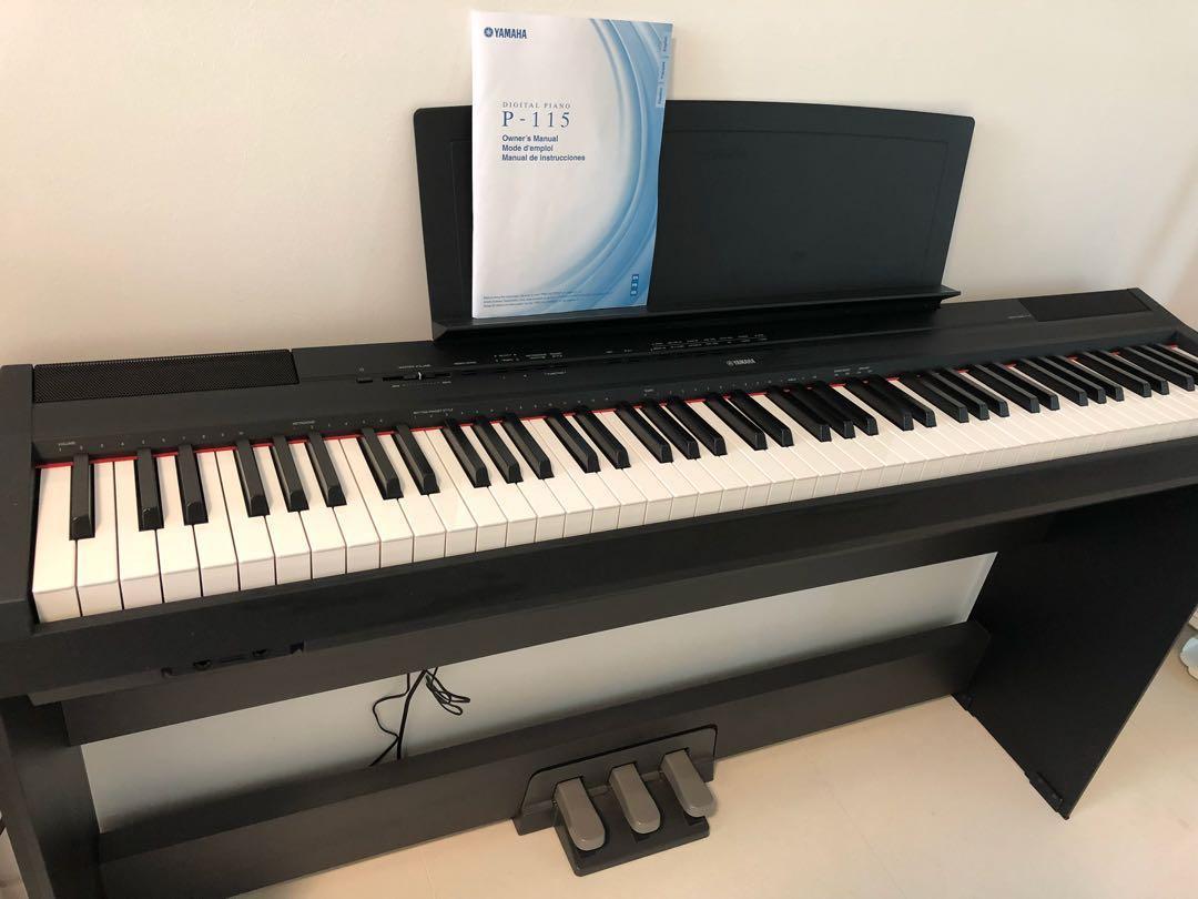 Yamaha Digital Piano P 115 Music Media Music Instruments