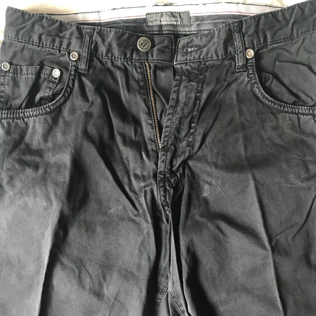 867455f5 Zara Sports Black Pants Size EUR: 38, Men's Fashion, Clothes ...