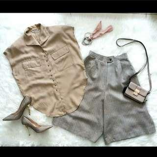 Kemeja casual & celana kulot #MauiPhoneX