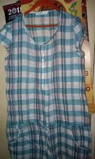 Penshoppe's plaid dress with pockets
