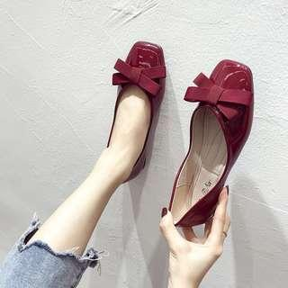 PRE-ORDER Casual ribbon flats shoes