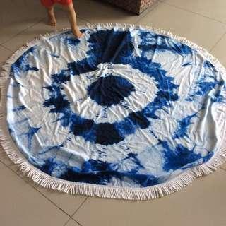 Big round towel picnic mat carpet tie dye throws