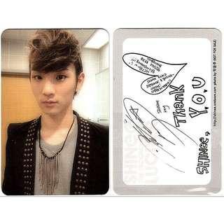 LF/WTB/ISO  Shinee Key Lucifer photo card