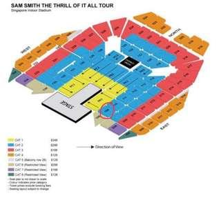 Trade/sell a pair of Sam Smith concert 3rd October