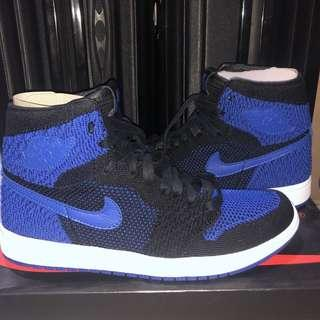 Nike air jordan retro 1 flyknit royal blue 100% brand new in box & original