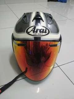 Helmet Arai Speedking convert sekali visor