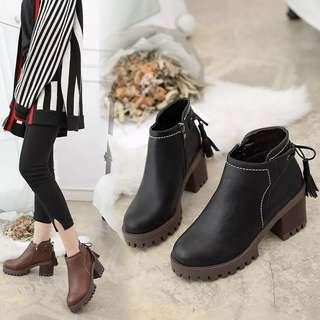2018 spring and autumn new thick with the British wind Korean students wild boots Martin boots children winter high to help high heels