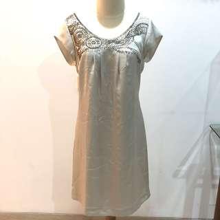Mark & Spencer Satin Beads Dress