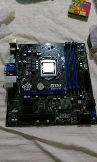 MSI Motherboard with CPU