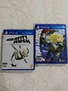 [USED] PS4 Gravity Rush 1 & Gravity Rush 2 #3x100