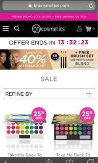 (PREORDER) BH COSMETICS 40% OFF SALE