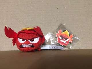 香港 迪士尼 徽章 DISNEY PIN Tsum Tsum Fun Fair 2018 Anger