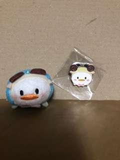 香港 迪士尼 徽章 DISNEY PIN Tsum Tsum Fun Fair 2018  Donald