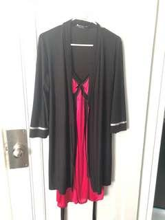 Satin Baby doll nightgown and bath robe