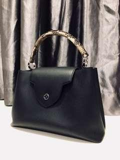 Louis Vuitton Capucines MM N91659 model Black Snakeskin