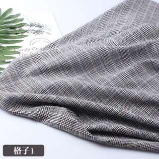 Welsh Plaid Fabric British Style Fabric Cloth Small Suit Pants Vest Jacket Windbreaker