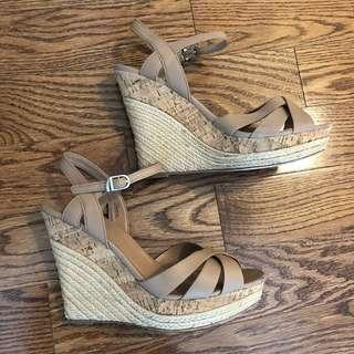 Nude wedges - size 40