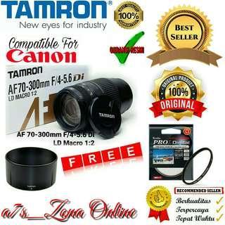 Lensa Tele Tamron AF 70-300mm F/4-5.6 Di LD Macro 1:2 For Canon Garansi RESMI