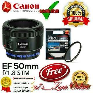 Lensa Fix Canon EF 50 mm F/1.8 STM
