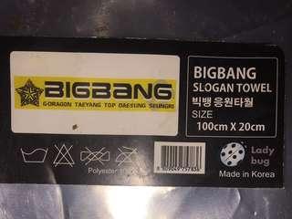 Big Bang slogan towel