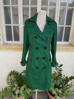 Green Lace Trench Coat