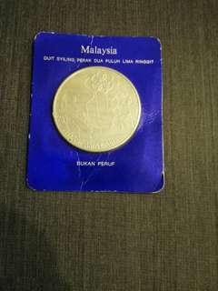 Duit syiling perak 25ringgit Malaysia