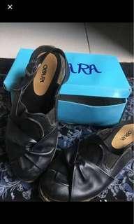 Obara shoes black sepatu hitam doctmart